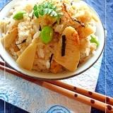筍と湯葉とひじきの混ぜご飯 (混ぜご飯の素)