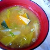 ❤ 岩津ネギ&かぼちゃ&青ネギの御味噌汁 ❤