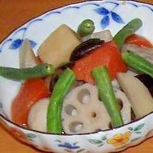 冷凍の和風野菜de野菜の煮物