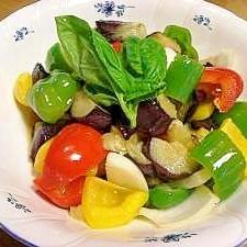 素揚げした夏野菜のサラダ