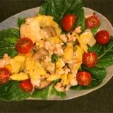 〈簡単レシピ〉ズッキーニと舞茸鶏そぼろチーズかけ