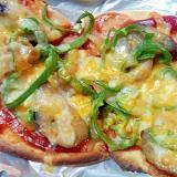 お手軽☆茄子の味噌炒めお惣菜ピザ