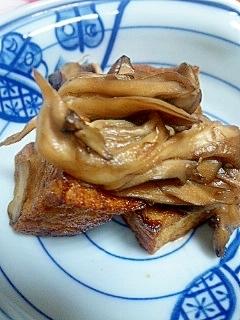 厚揚げと舞茸の炒め物