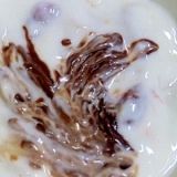 チョコフルーツヨーグルト
