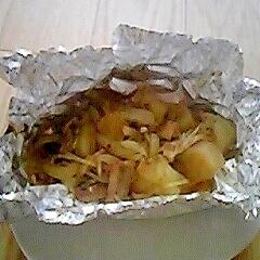 簡単☆さんま缶と野菜のホイル焼き