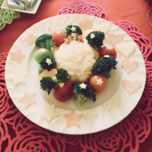 クリスマスに★リース風ポテトサラダ