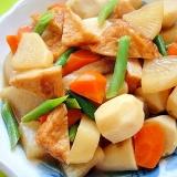 里芋と大根さつま揚げの煮物