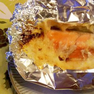 鮭のおろし長芋・柚子味噌のせホイル焼き