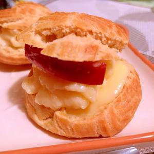 ほろ苦カラメル林檎のカスタードシュークリーム