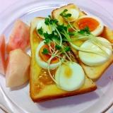 卵とテリマヨのトースト