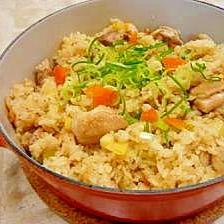 焼き鶏の炊き込みご飯