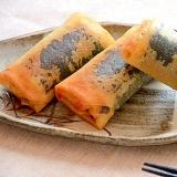 炒り豆腐を包んだ和風春巻き