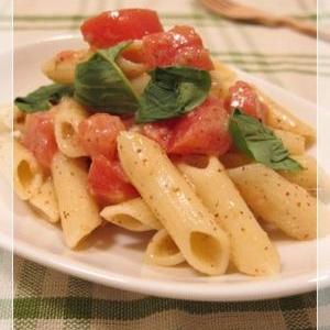 レンジで簡単!トマトとバジルの冷製マスタードペンネ
