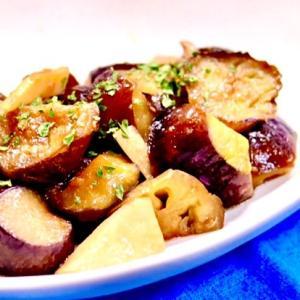茄子とエリンギの麺つゆ炒め