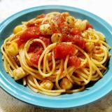 貝柱のトマトソースパスタ