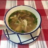 いろいろきのこのスープ