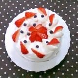 シフォンケーキパンDEデコレーションケーキ風