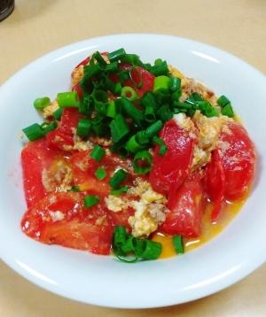 さっぱり&しっかり❤ひき肉入りのトマト卵中華炒め