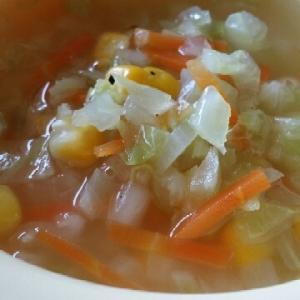 1歳のとろとろキャベツのスープ