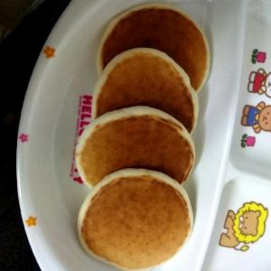 離乳食完了期~きなこりんごのホットケーキ