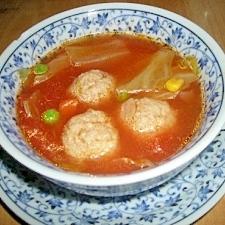 肉団子入りトマトスープ