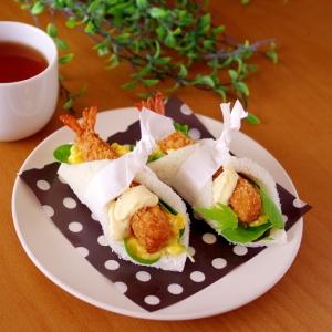 エビフライのたっぷりトロ卵サンドシナイッチ