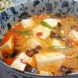 ピーマン豆腐の麻婆春雨