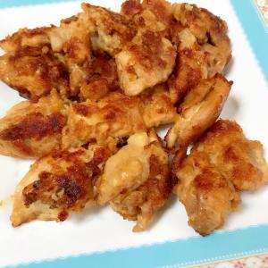 鶏肉パン粉焼きの甘辛ニンニク味