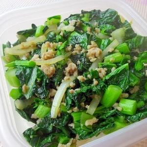 5分で簡単*雪菜と豚挽き肉の甘辛炒めごはん*
