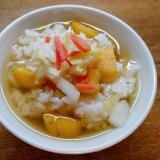 薩摩芋と白菜人参塩もみのお茶漬け