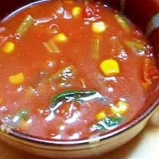 お手軽トマトスープ