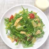 漬物の味と食感がアクセント♡和風水菜サラダ♪