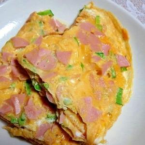 ギョニソと絹サヤの卵焼き