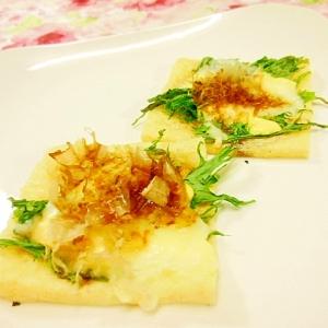 油揚げde❤ツーンと味わう水菜と鰹節のとりあえず❤