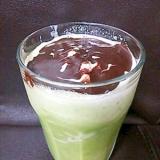 スタバのソイ抹茶フラぺを再現(^^)ブレンダーで。