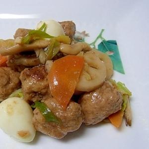 中華風肉団子炒め