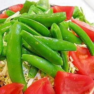 スナップエンドウのサラダ