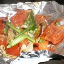 チキンとトマトの彩りグリル