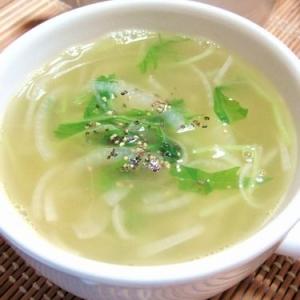 洋風も美味し♪水菜スープ