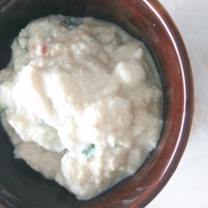 豆腐とオクラの混ぜもの