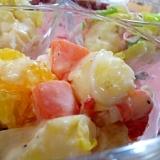 伊予柑と温野菜のサラダ