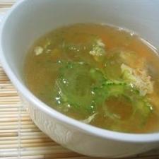 超簡単。スグ出来るゴーヤスープ