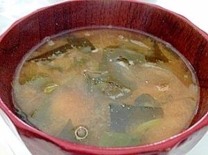 ☆ゆずコショウでおいしいワカメの味噌スープ(味噌汁