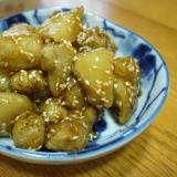 菊芋の甘辛揚げ