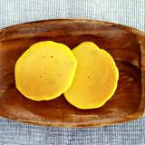 【離乳食後期~】かぼちゃのパンケーキ