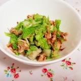 レンジで簡単作りおき!白菜とササミの梅おかか和え