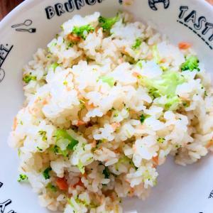 鮭とブロッコリーの炒飯