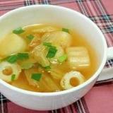 お麩入り♪トロトロキムチスープ