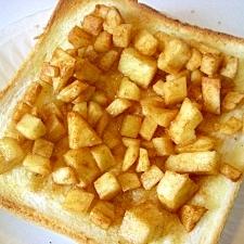 シナモン風味のリンゴのせパン♪