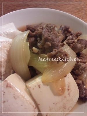 シンプルでおいしい☆肉豆腐